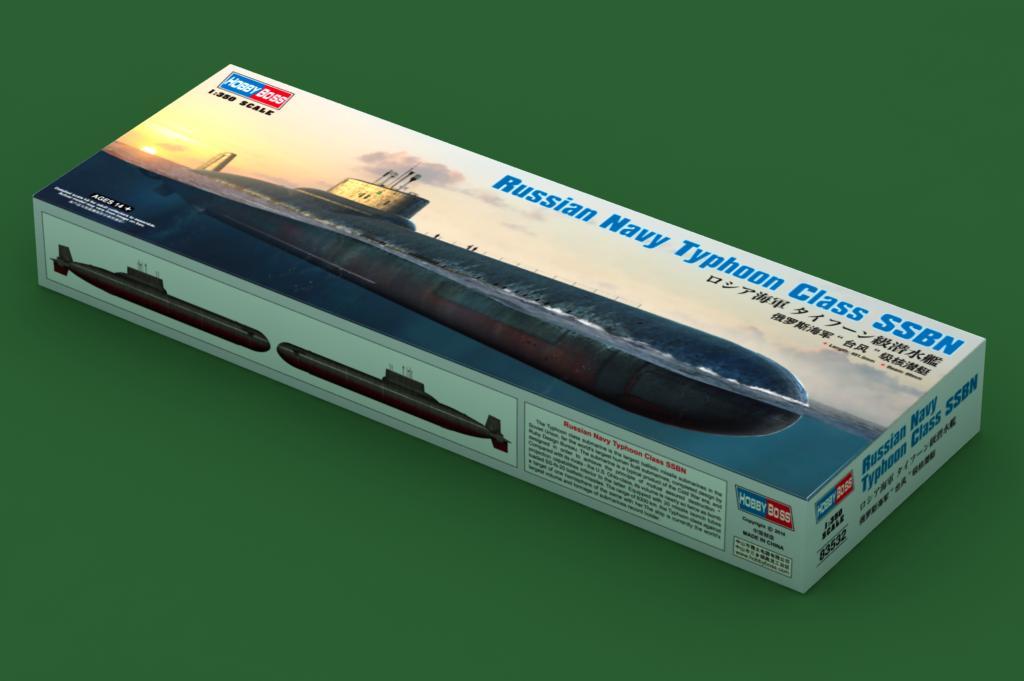 Ship A Car >> Russian Navy Typhoon Class SSBN 83532-1:350-HobbyBoss