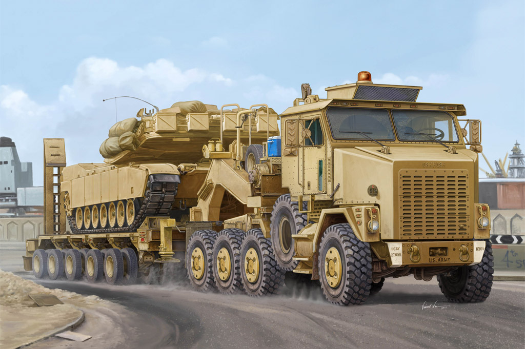 M1070 Truck Tractor & M1000 Heavy Equipment Transporter Semi-trailer  85502