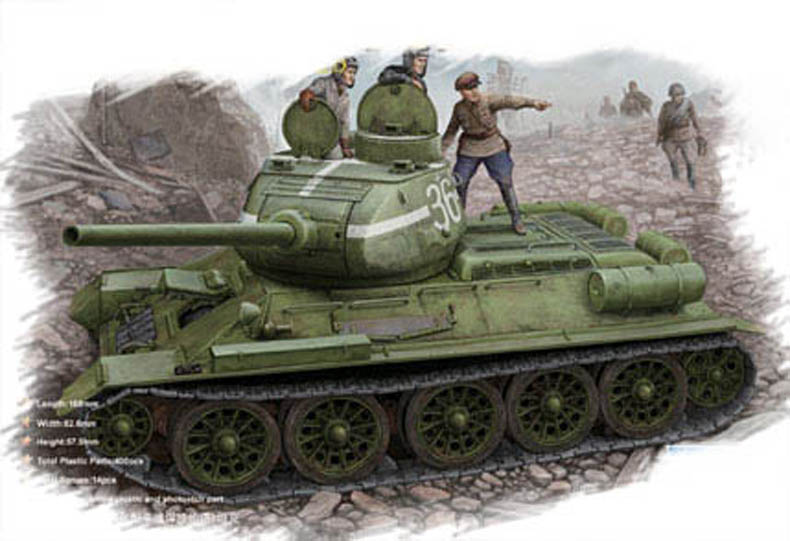 T-34/85 (Model 1944 flattened turret)Tank  84807
