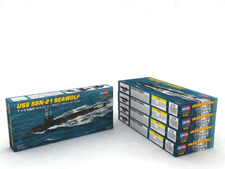 Neu Hobbyboss 87003-1:700 USS SSN-21 SEAWOLF ATTACK SUBMARINE