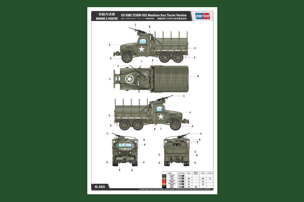 US GMC CCKW-352 Machine Gun Turret Version 83833-1:35 ...