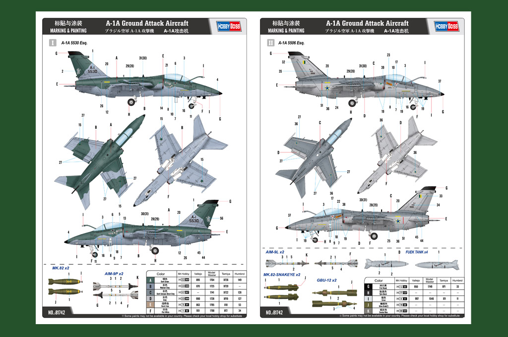 Hobby Boss 81741 AMX Ground Attack Aircraft in 1:48
