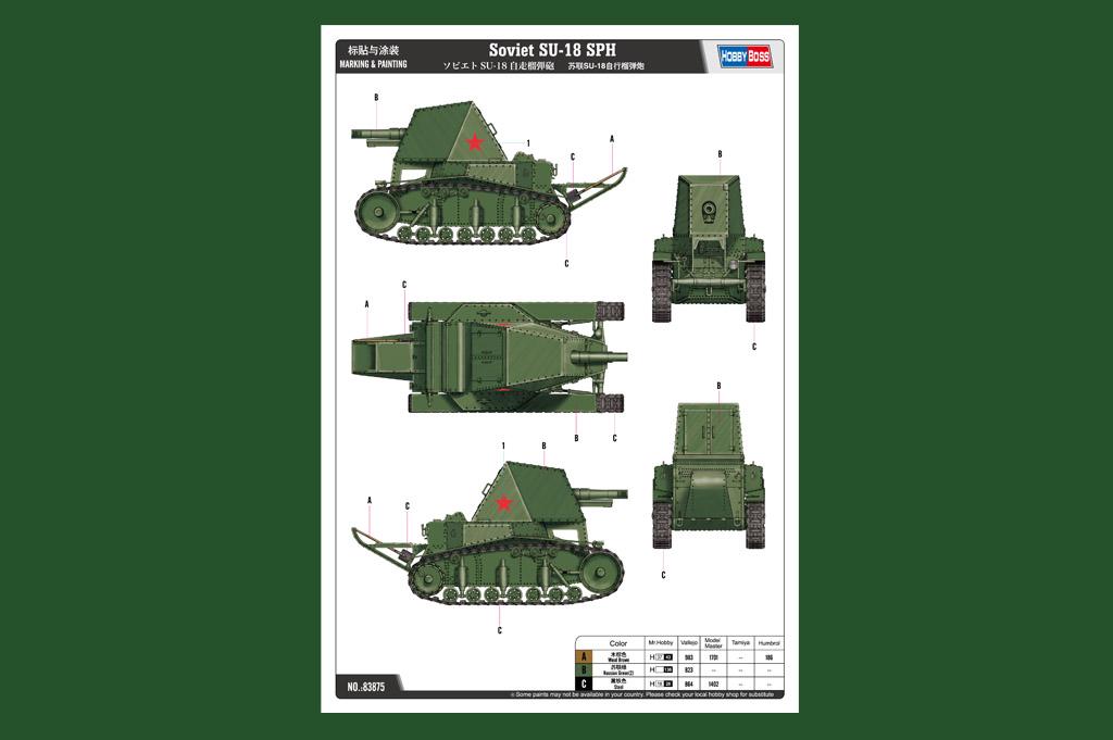 Ship A Car >> Soviet SU-18 SPH 83875-1:35-HobbyBoss