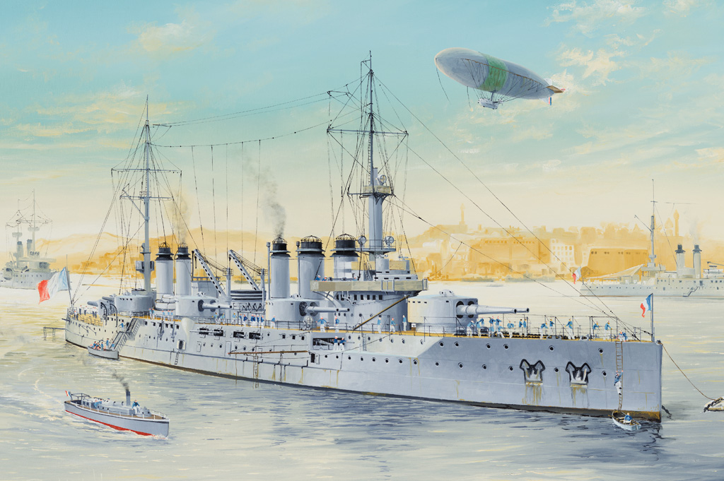 French Navy Pre-Dreadnought Battleship Voltaire 86504