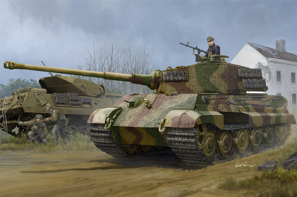 Pz.Kpfw.VI Sd.Kfz.182 Tiger II (Henschel 1944 Production) w/ Zimmerit 84531
