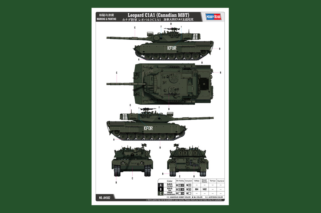 HobbyBoss 1//35 Canadian Leopard C1A1 MBT