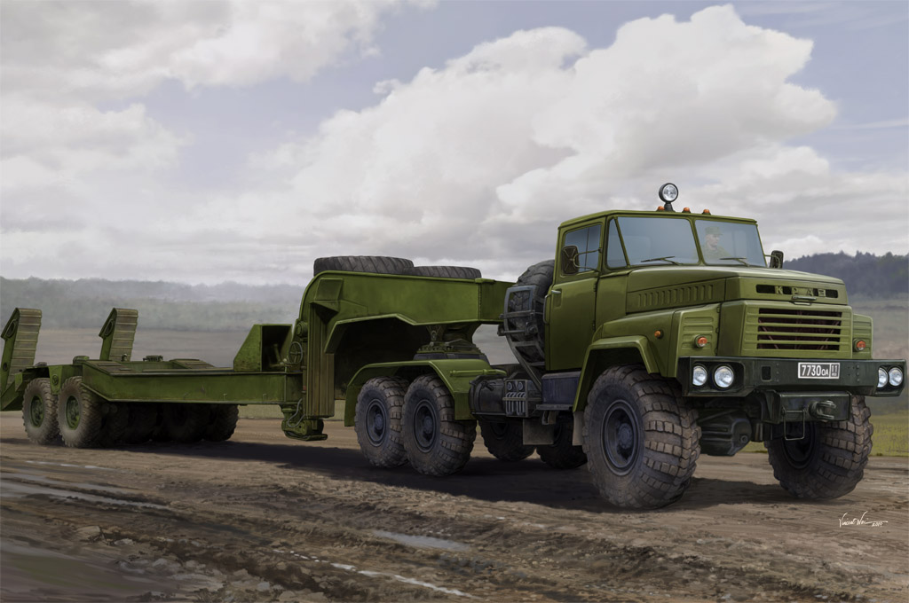 Russian KrAZ-260B Tractor with MAZ/ChMZAP-5247G semitrailer 85523